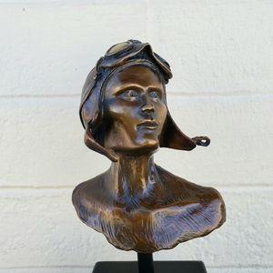 Amelia Earhart Bronze Sculpture